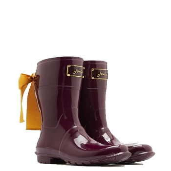 Welly Premium Evedon Short Rain Boot (Burgundy)