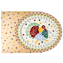 Polka Dot Turkey Platter Boxed- Second - 1 available