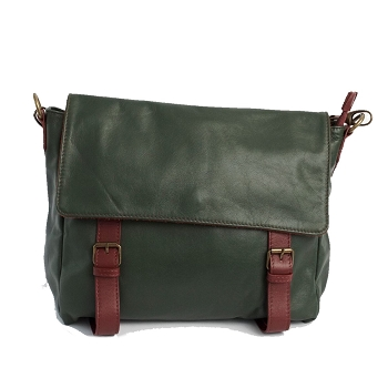 Cannara Leather Bag, Italy- Green