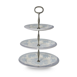 Blue Asiatic Pheasant Three Tiered Cake Stand Covered-on back order 8+ weeks