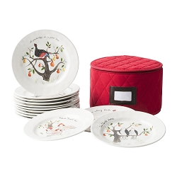Twelve Days of Christmas Dessert/Salad Plate Set/12 - two sets left