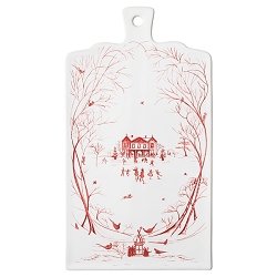 Country Estate Winter Frolic Ruby Serving Board- 1 left