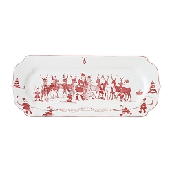 Country Estate Reindeer Games Ruby Hostess Tray
