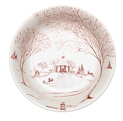 Country Estate Ruby Md Serving Bowl Winter Frolic, Forest Creature Frolic