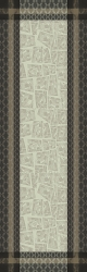 Fields Earth Table Runner  19'X59'', 100% Cotton, Green Sweet