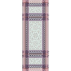 Faience Mauve Table Runner  22X59, 100% Cotton, Green Sweet