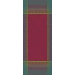 Isaphire Rubis Table Runner , 100% Cotton, Green Sweet