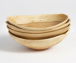 Andrew Pearce Cherry Wood Live Edge Bowl - 7 inch set/4