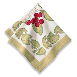 Cherry Napkins, Set of 6 - Backordered