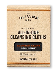 Bourbon Cedar Face & Body All-In-One Cleansing Cloths 10 Pack