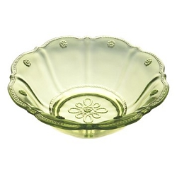 Colette Dessert Bowl  Green-set/4 (1 set available)