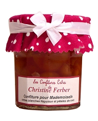 Christine Ferber Jam for Mademoiselle with white cherries and rose-4 available