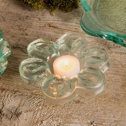 Annie Glass Daisy Tea Light Holder-2 available