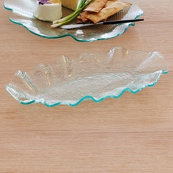 Annie Glass Dune Oval Platter-1 available
