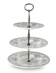 Dove Grey Asiatic Pheasant  3 Tiered Cake Stand (Gift Boxed)