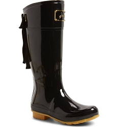 Joules Evedon Boot Black with Bow