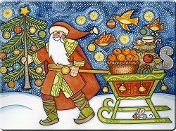 Hadley Father Christmas Placemats set/4