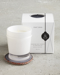 Fog Boxed Scented Soy Candle w/Coaster
