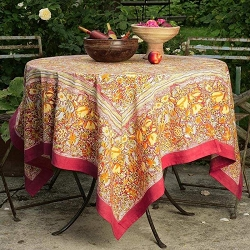 Jardin Red & Yellow French Tablecloth