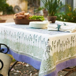 Lavender French Tablecloth 59