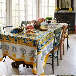 Lemon Tree French Tablecloth