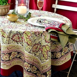 Malini Red & Green French Tablecloth