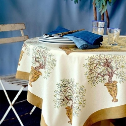 Olive Tree French Tablecloth