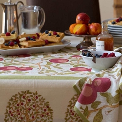 Orange Tree Red/Green French Tablecloth