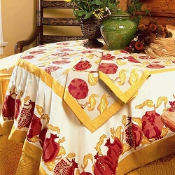 Pomegranate French Tablecloth
