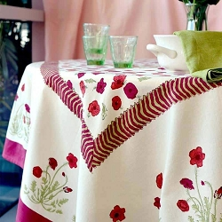 Poppies French Tablecloth
