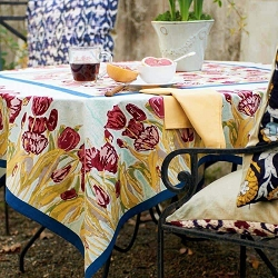 Tulips French Tablecloth