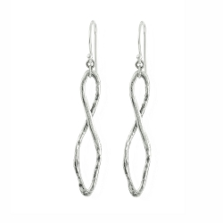 Gestural Drop Earrings - Sterling Silver