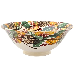 Holly Wreath Medium Serving Bowl