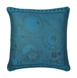 Entre Amis Cushion Cover, 100% Cotton, Green Sweet    set/2