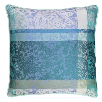 Mille Dentelles Turquoise Cushion Cover Set/2