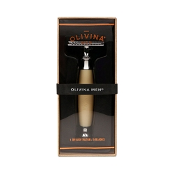Olivina Safety Razor Ivory Resin Handle
