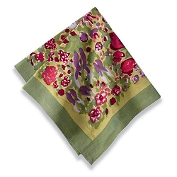 Jardin Napkins Red & Green, Set of 6 Backordered