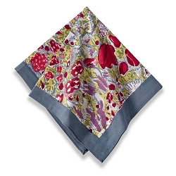 Jardin Napkins Red & Grey, Set of 6