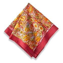 Jardin Napkins Red & Yellow, Set of 6