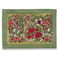 Jardin Placemats Red & Green, Set of 6