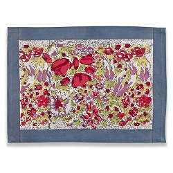 Jardin Placemats Red & Grey, Set of 6