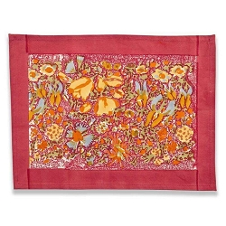 Jardin Placemats Red & Yellow, Set of 6