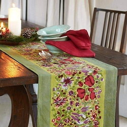 Jardin Runner Red & Green