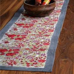 Jardin Runner Red & Grey