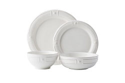 Berry & Thread French Panel Whitewash 4pc Place Setting