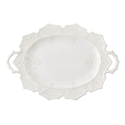 Jardins du Monde Whitewash Turkey Platter