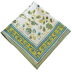 Joy Napkins Green & Blue, Set of 6 -Backordered
