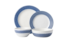 Le Panier White/Delft 4 Pc. Place Setting