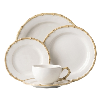 Natural Bamboo 5 Piece Place Setting