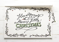 Placemat Merry Little Christmas